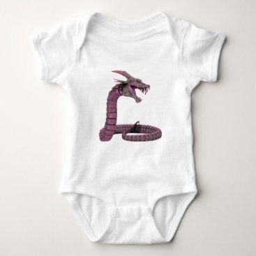 Halloween Themed Fantasy Creature Pink Purple Baby Bodysuit