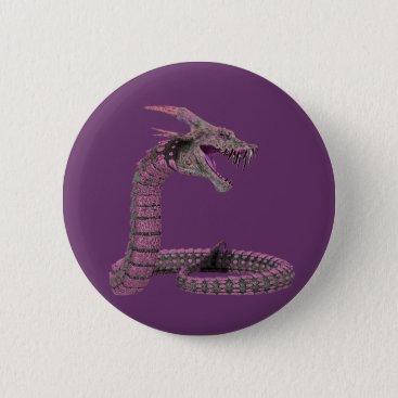 Halloween Themed Fantasy Creature Pink Purple Button