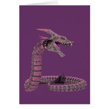 Halloween Themed Fantasy Creature Pink Purple Card