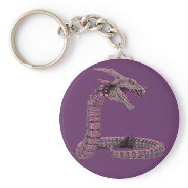 Halloween Themed Fantasy Creature Pink Purple Keychain