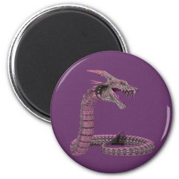 Halloween Themed Fantasy Creature Pink Purple Magnet