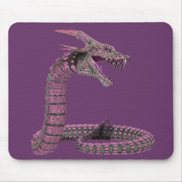 Halloween Themed Fantasy Creature Pink Purple Mouse Pad