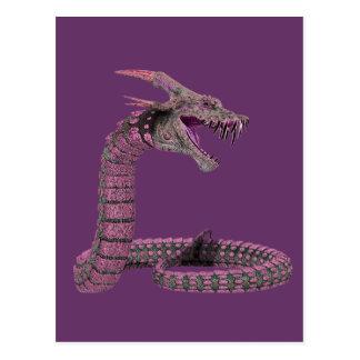 Fantasy Creature Pink Purple Postcard