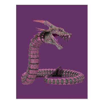 Halloween Themed Fantasy Creature Pink Purple Postcard
