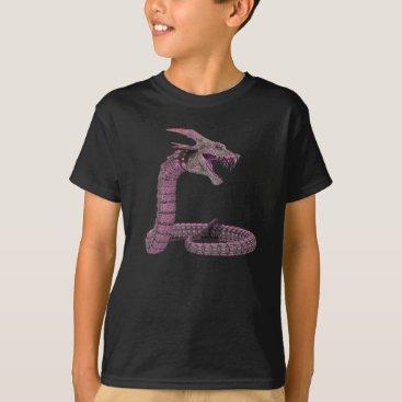 Halloween Themed Fantasy Creature Pink Purple T-Shirt