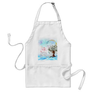 Fantasy Crystal Horse Carriage Adult Apron