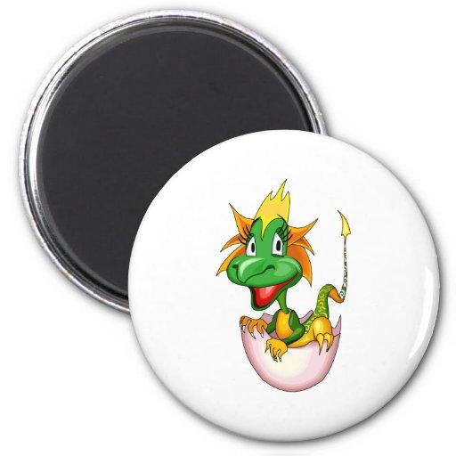 Fantasy Cute Baby Dragon 2 Inch Round Magnet