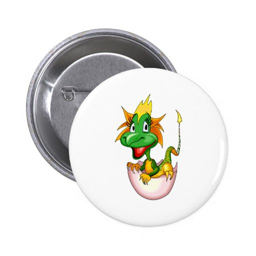 Fantasy Cute Baby Dragon Button