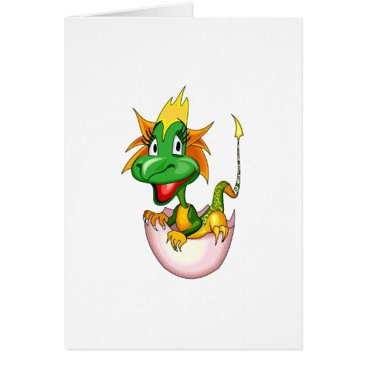 Fantasy Cute Baby Dragon Greeting Card