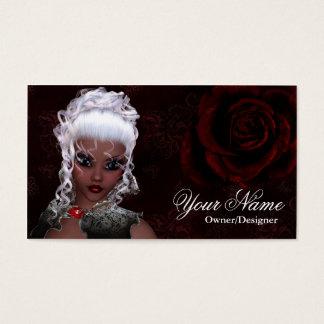 Fantasy Dark Skin Dark Gothic Style Business Card