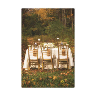 Fantasy Dinner in the Autumn Woods Canvas Print