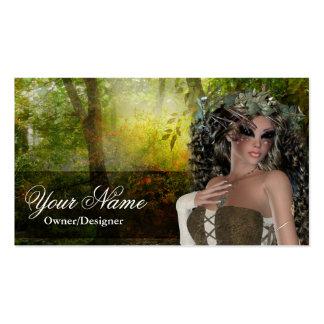 Fantasy Doe Brunette Woman Business Cards