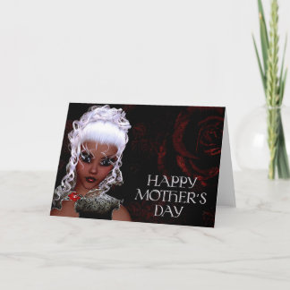 Fantasy Doe-Eyed Woman Mother's Day Card