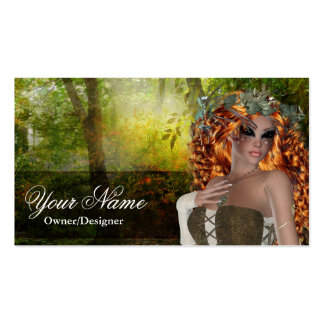 Fantasy Doe Redhead Woman Business Cards