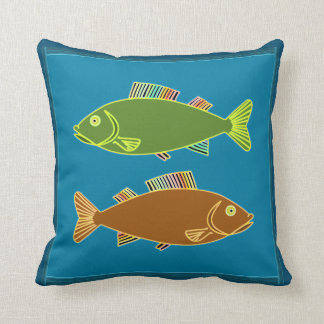 Fantasy Double Rainbow Fin Fish Pillow