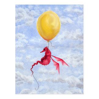 Fantasy Dragon Art Postcard - Up in the Air