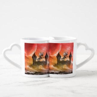 Fantasy, dragon coffee mug set