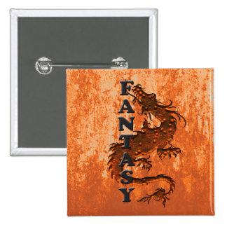FANTASY dragon on rust Pins