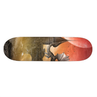 Fantasy, dragon skateboard deck