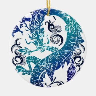 Fantasy Dragon Throne Ceramic Ornament