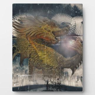 Fantasy Dragon Throne Plaque