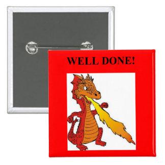 fantasy dragon well done design pinback button