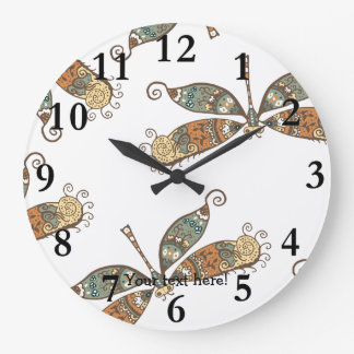 Fantasy Dragonfly Large Clock