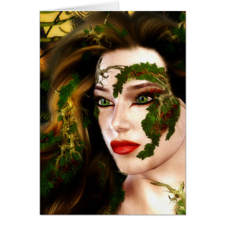Fantasy Dryad of the Forest Card