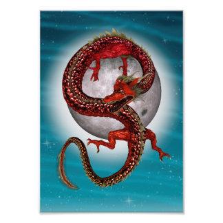 Fantasy Eastern Red Dragon Photo Art