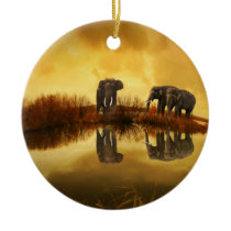 Fantasy Elephant Ceramic Ornament