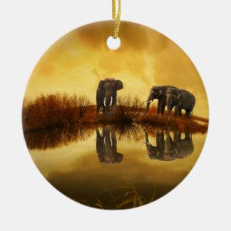 Fantasy Elephant Ceramic Ornament