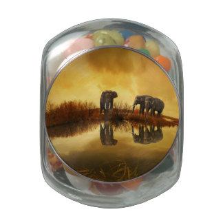 Fantasy Elephant Glass Jars