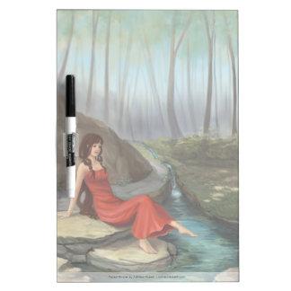 Fantasy Elf Girl Illustration Dry Erase Board