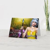 Fantasy Elf with Crystal Staff Mother's Day Card