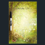 """Fantasy Enchanted Forest Land Grocery List Dry Erase Board<br><div class=""""desc"""">Beautiful illustration of a enchanted forest scene . Make it a grocery list or to do list. Text is fully customizable.</div>"""