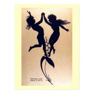 Fantasy Fairies Art Vintage Post Cards