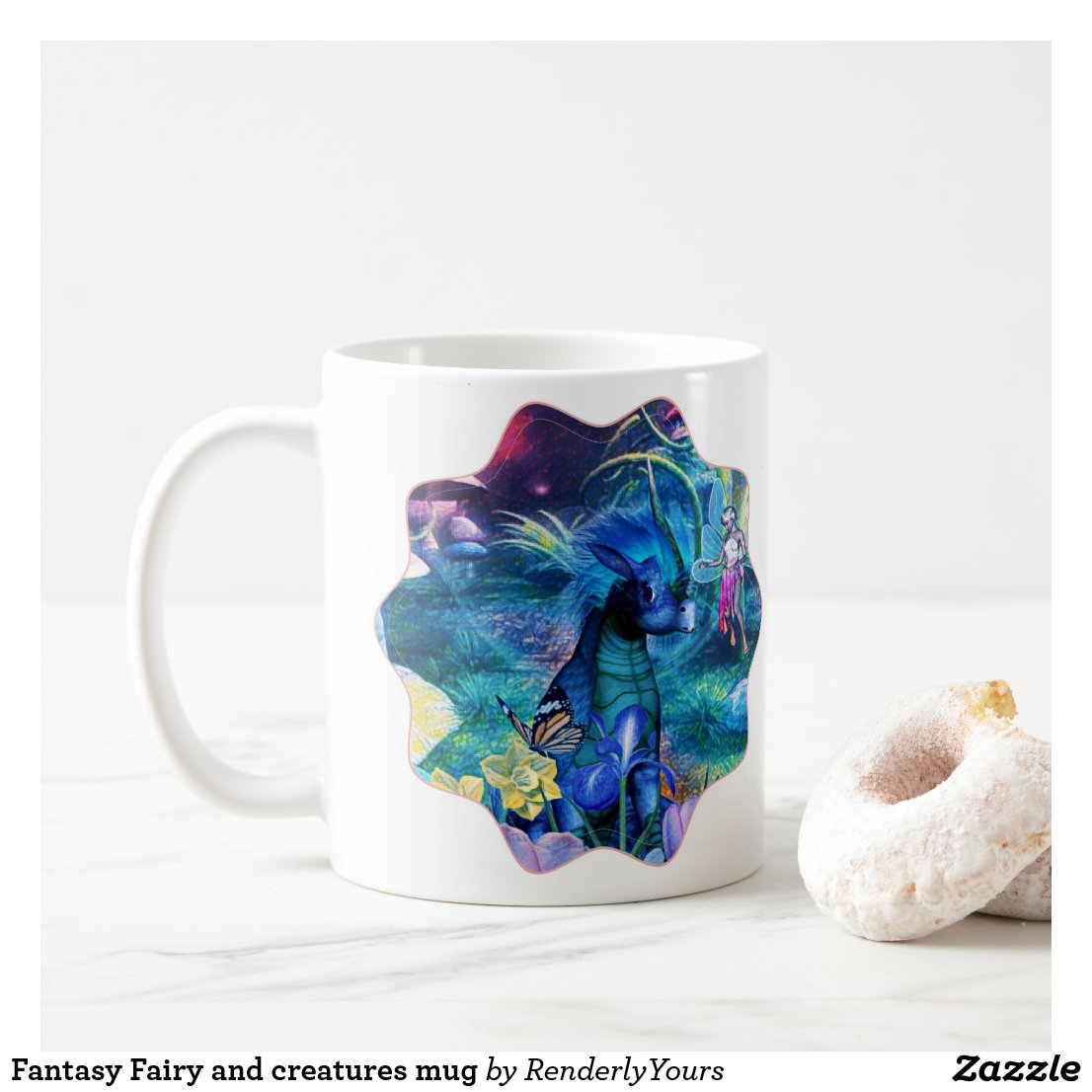 Fantasy Fairy and creatures mug