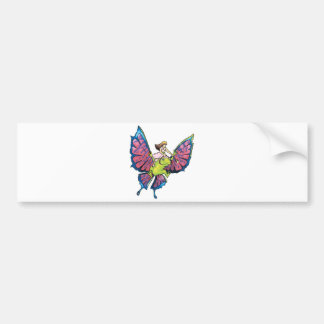 fantasy fairy frog bumper sticker