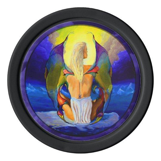 Fantasy Fairy Lady Poker Chip Set
