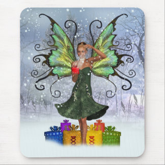 Fantasy Fairy Mousepad / Mousemat Winter Scene