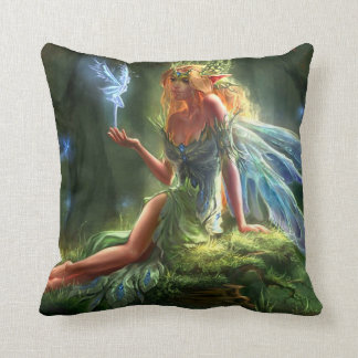 Fantasy Fairy Throw Pillow