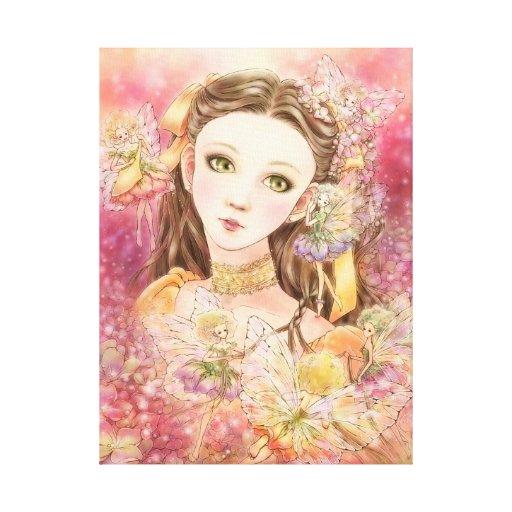Fantasy Fairy Wrapped Canvas Print