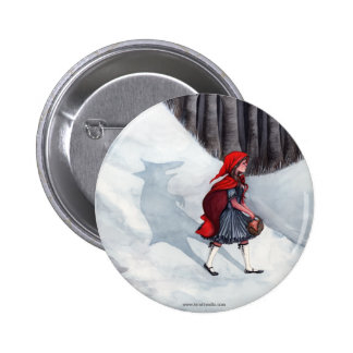 Fantasy Fairytale Art Pin Badge - Wolf Within