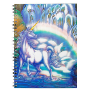 Fantasy Falls playing cards Spiral Note Books