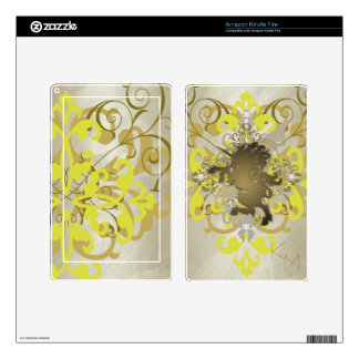 Fantasy Faux Jewel Gold Unicorn Kindle Skin