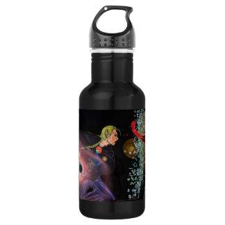 Fantasy Female Elfen Battle Cleric 18oz Water Bottle