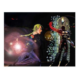 Fantasy Female Elfen Battle Cleric Postcards