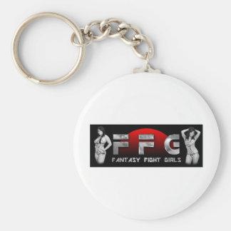 Fantasy Fight Girls 1 Basic Round Button Keychain