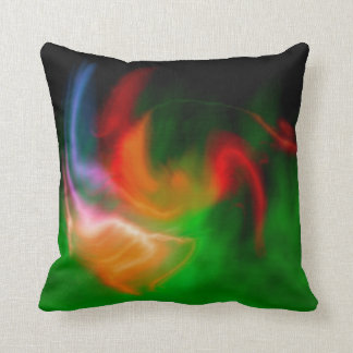 Fantasy fire throw pillow