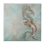 Fantasy Fish Art Nouveau Ceramic Tiles